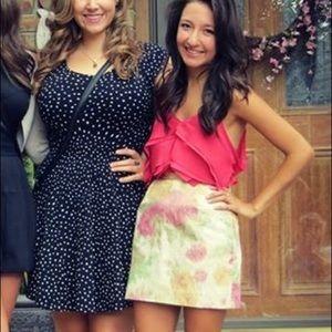 H&M Gold & Pink Skirt