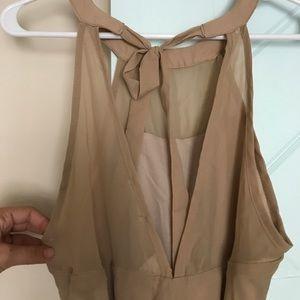 Dresses - Tan Dress