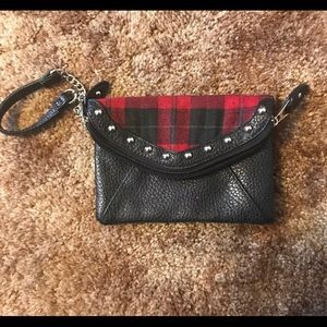 Maurices Flannel Clutch