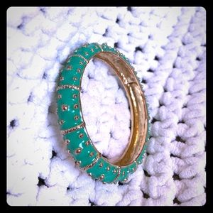 Lilly Pulitzer Bangle in Green/Gold-Rose Gold