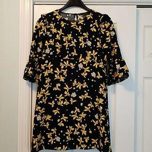 Black / Yellow Zara dress