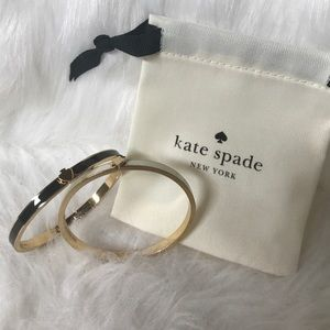 Kate Spade ♠️ Bracelets Black, White with Gold