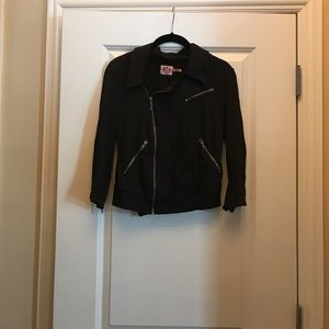 Juicy Couture cotton zipper crop jacket