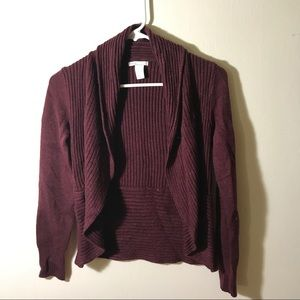 H&M Red Long-Sleeved Cardigan