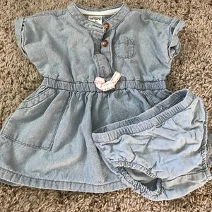 Carter's Denim Dress With Matching Diaper Cover