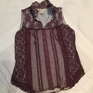 Purple Free People Sleeveless Top