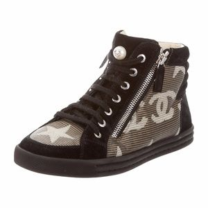 Authentic Chanel Star Athletic Hightop Sneakers