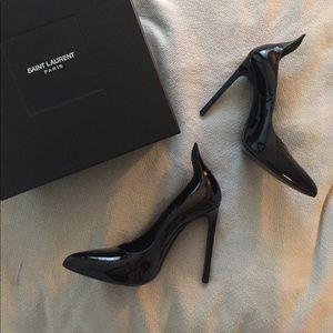saint laurent black thorn heels