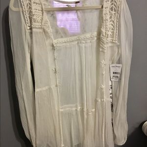 Free People Sheer Blouse/ Coverup TAG ON
