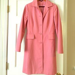 Pink trench raincoat