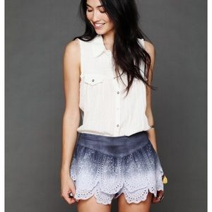 Free People Tiered Eyelet Lace Shorts