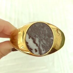 J Crew marble and gold cuff bracelet