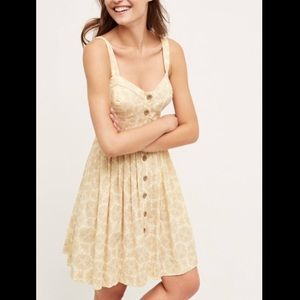 Anthropologie Maeve Yellow Cafe Dress