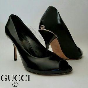 Gucci peep-toe pump, heels 37 US 7