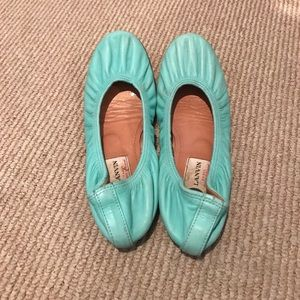 Lanvin flats in beautiful turquoise