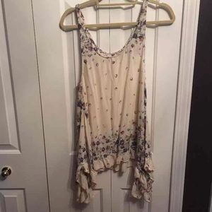Free people floral tunic size small
