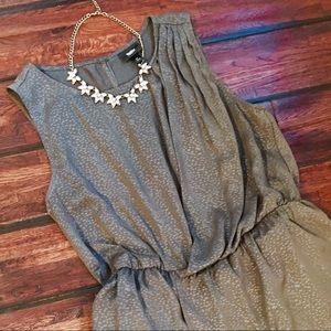 Mossimo Sleeveless Grecian-style Wrap Blouse