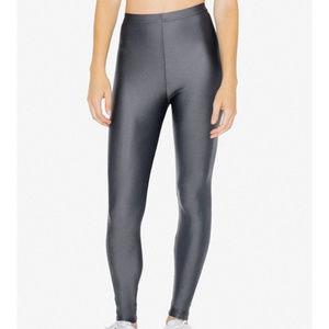American Apparel Shiny Nylon Tricot Leggings Sz S