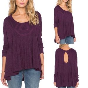 Free People New Hope Babydoll Top African Violet