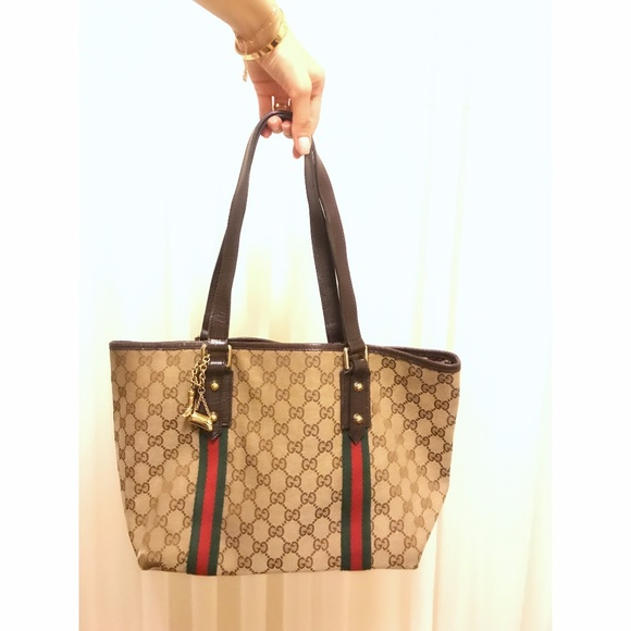 60270791cddc Gucci Bags   Gg Canvas Jolicoeur Tote Bag With Charm   Poshmark