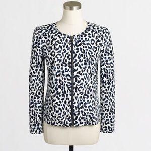 NWT. J. Crew Factory leopard motorcycle jacket