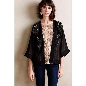 Anthropologie Deletta Kimono Black Jacket XS