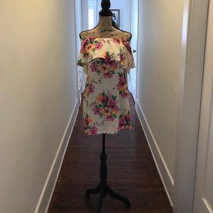 Windsor Floral Off the Shoulder Dress