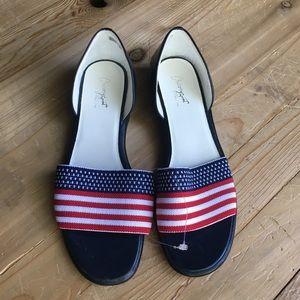 Chicory Sport USA flag slide sandals