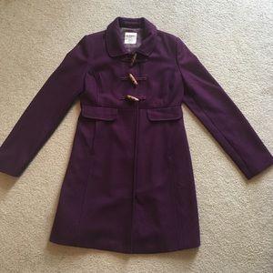 Old Navy Purple Long Pea Coat