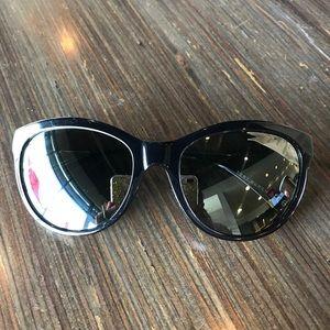 Tory Burch black and silver cat eye sunglasses