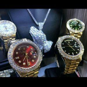 Rolex Datejust Watch iced