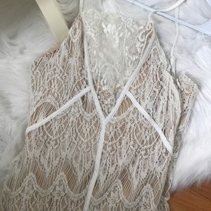 Tobi Lacy Slip Dress