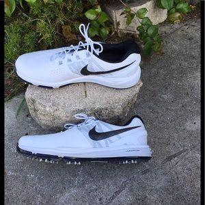 Nike Lunarlon Waterproof Black & White Golf Shoes