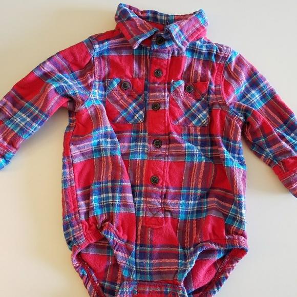 6d3a571c255 Baby OshKosh 12M Long Sleeve Flannel Onesie. M 59c2beadbcd4a79da201e6b0