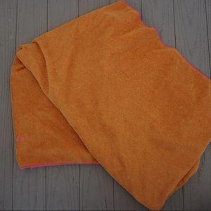 Orange yoga towel