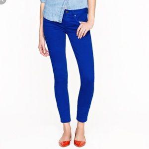 J. Crew toothpick blue skinny jeans size 31