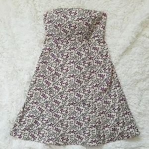 GAP Strapless Floral Dress