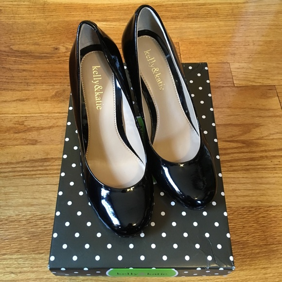 Kelly & Katie Shoes - Black Patent Heels