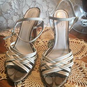 Coach Heel Shoes, size 9.5, box C