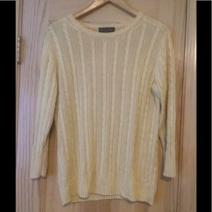 Brooks Brothers 💯% Silk Butter Yellow Sweater