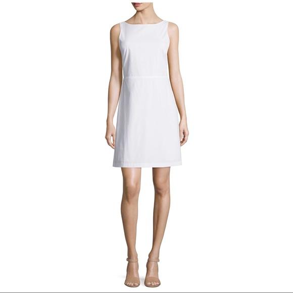 addab0d09e8 Theory Dresses | White Jozzla Dress In Light Poplin Sz 2 | Poshmark