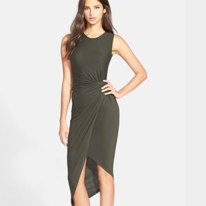 ASTR Olive Knotted Body Con Dress XS EUC