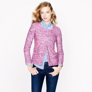 Jcrew micro tweed jacket
