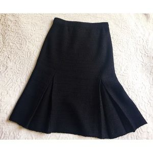 Vintage Adolfo black knit stretch calf skirt 2