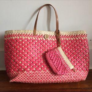 Tory Burch Beach Bag + Wallet