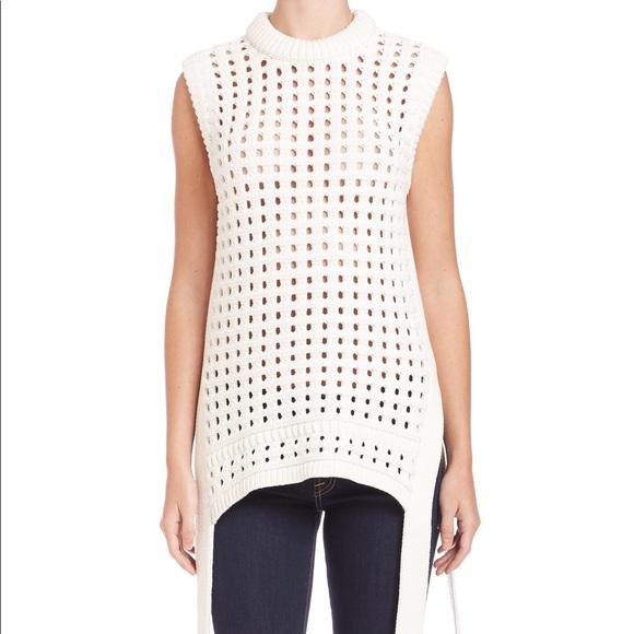06452190ebd7 Tibi pointelle-knit sleeveless sweater. M_59c2c3bdb4188e5f9701eee1