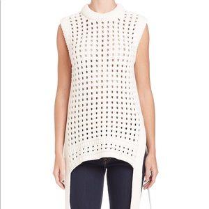 Tibi pointelle-knit sleeveless sweater