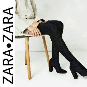ZARA Stretch Over the Knee Boots