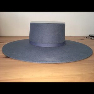 Brixton Accessories - Brixton Stiff Wide Brim Blue Denim Ally Hat XS