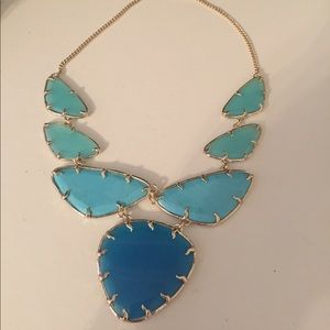 Kendra Scott blue limited edition necklace